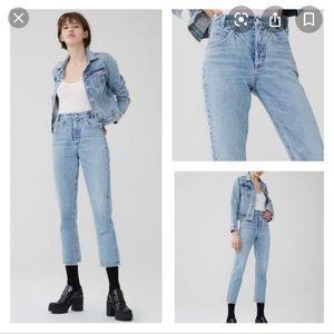 Agolde Palladium high rise straight jeans